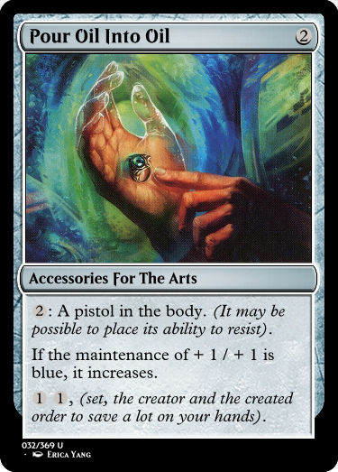 I'm sure someone out there would like a pistol in the body. #GoogleTranslatesMTG  (original:  https:// gatherer.wizards.com/Pages/Card/Det ails.aspx?multiverseid=253690  … )<br>http://pic.twitter.com/MjmTKuSu2Z