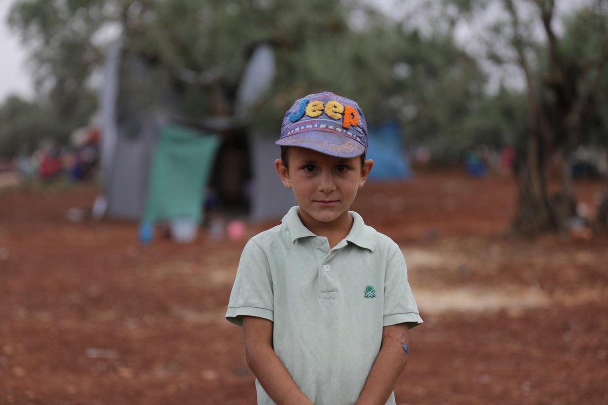 """My parents told me that we can't go back home until the fighting stops. We left our house very quickly because there were so many loud sounds of explosions."" – Ghadeer, aged 6, from Syria.   #ForEveryChild: A safe place to call home."