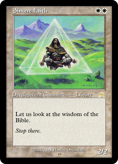 I don't care how sincere you are about it, if this is your introduction, I'm stopping you right there.  #MtG #GoogleTranslatesMtG #TrueBeliever  Art by: @AlexHorleyArt<br>http://pic.twitter.com/yuKuJTDcje