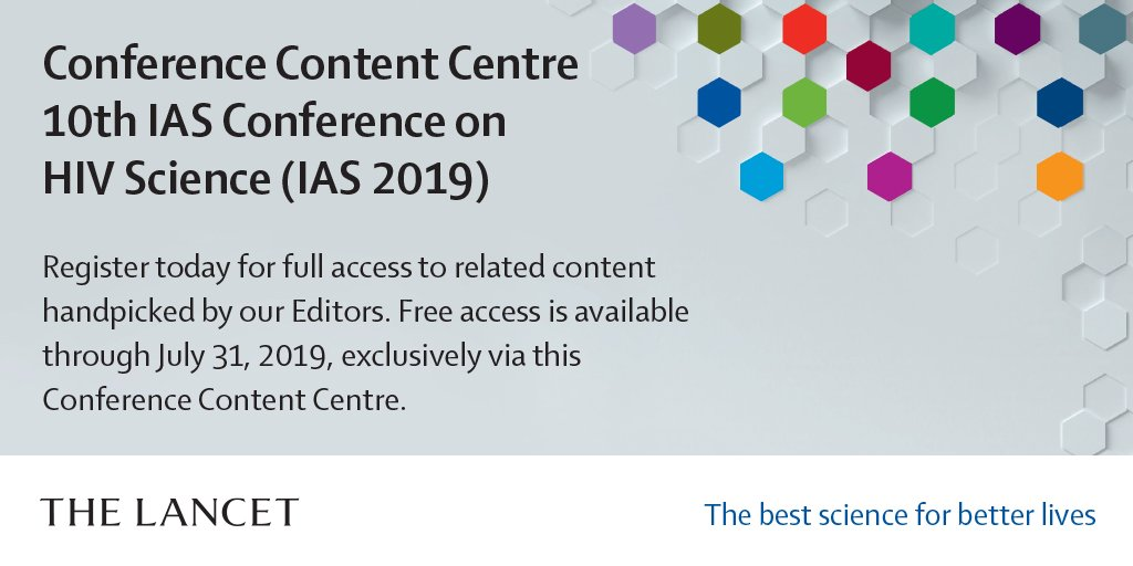 International AIDS Society #IAS2019 starts in July 21 in Mexico City. Free access to related content from Lancet journals is available until July 31 via https://info.thelancet.com/ias-19-content-centre-reg-0… #HIV