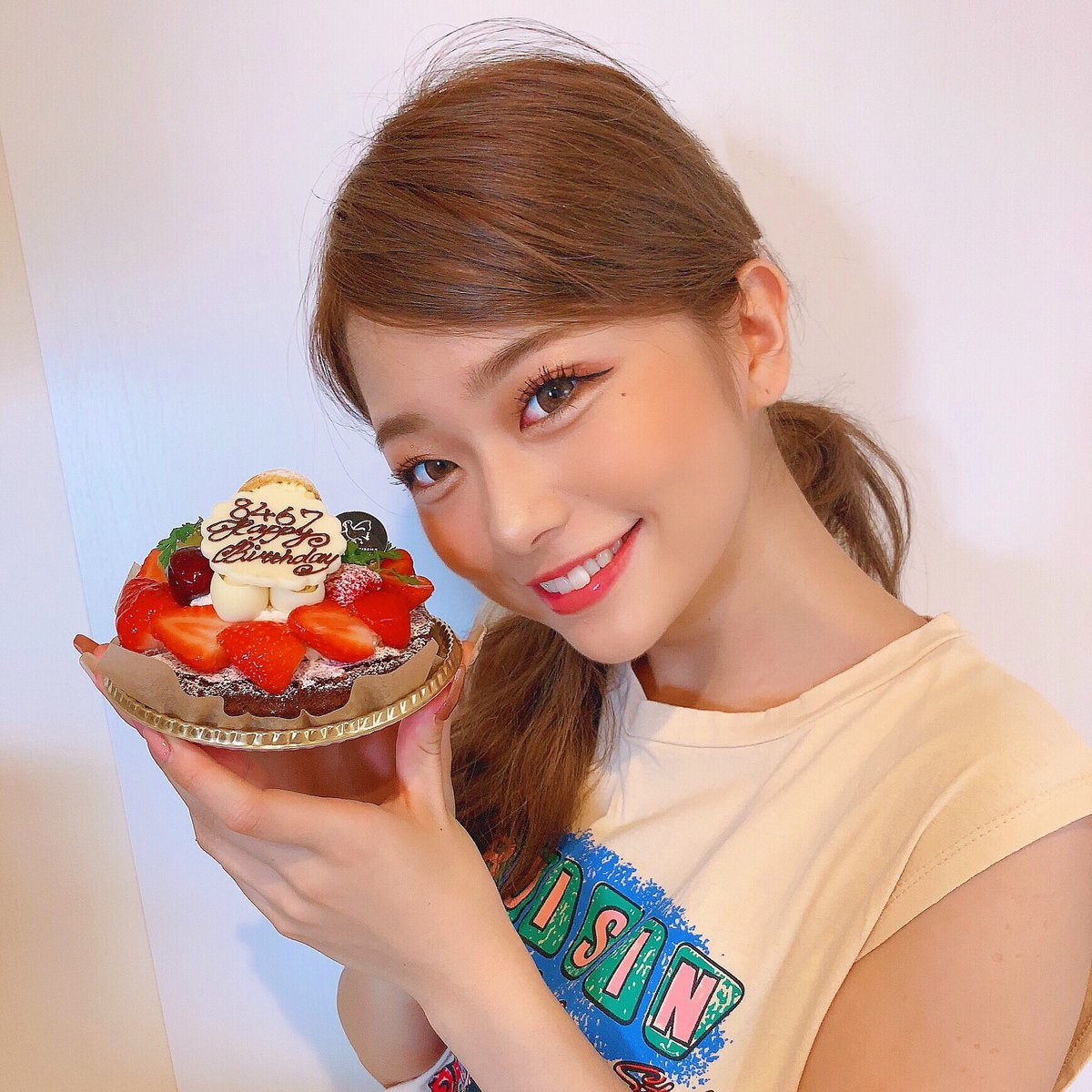 誕生日お祝いしてくれた皆様ありがとうございます💛幸せな誕生日になりまひた!