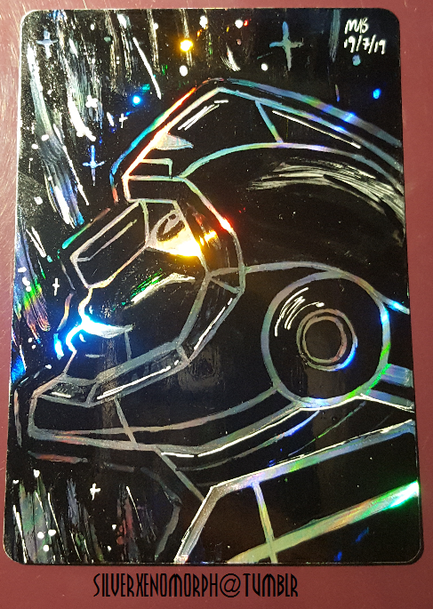 A Holo Rubble on a cleaned pokemon card to brighten your day! #transformers #maccadam #IDW