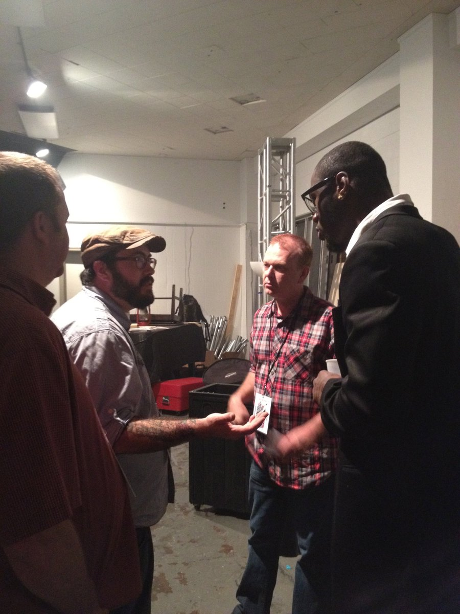 Digging around in my old photos and found this gem. @bohicks @elldcbc @jimdunaway and @BronzeBomber backstage at the Tuscaloosa Get UP! <br>http://pic.twitter.com/jF6CuLEBG9