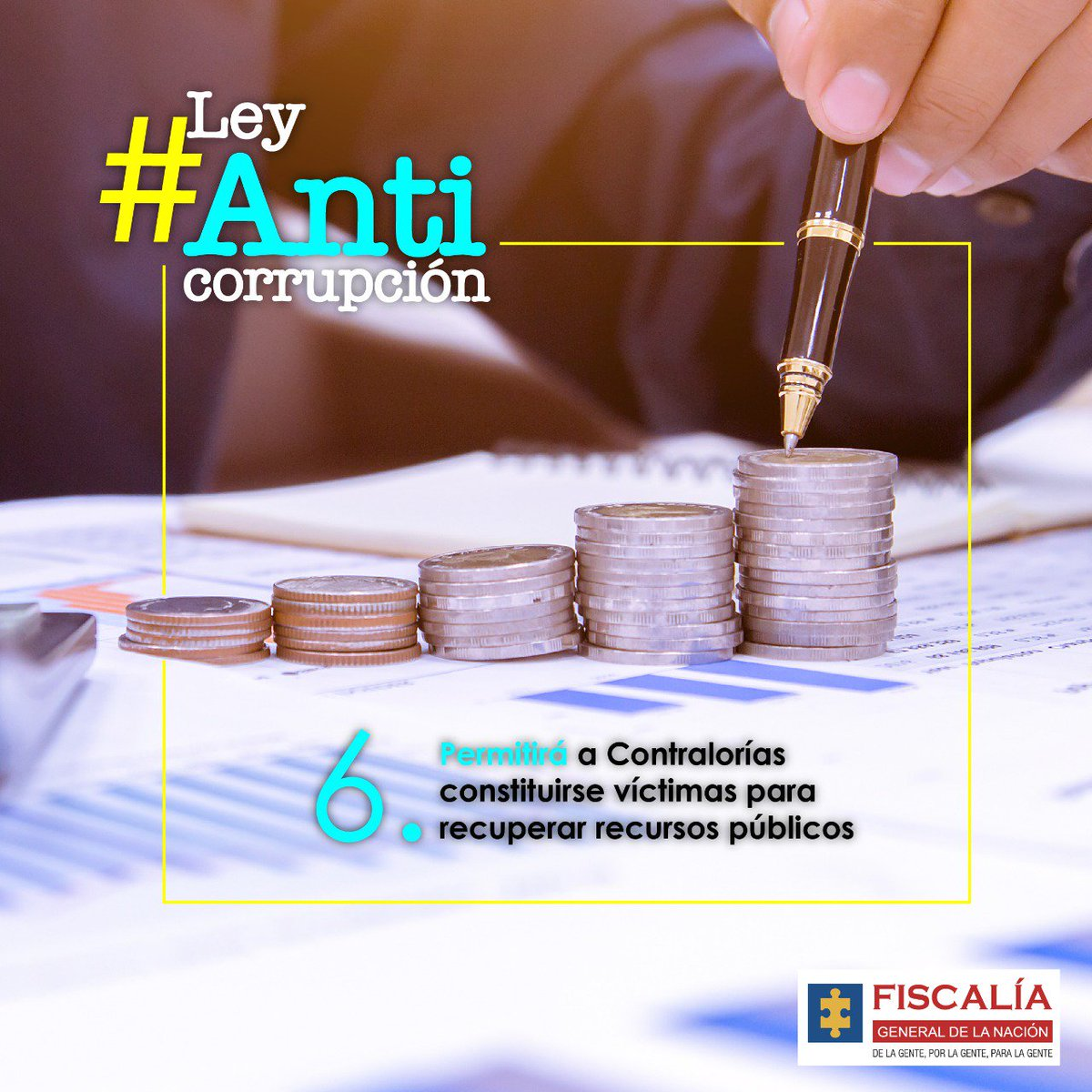 #LeyAnticorrupción propuesta por #Fiscalía faculta a la @CGR_Colombia y contralorías del país para constituirse como víctima para recuperar los dineros públicos afectados por redes de corrupción. #LuchaContraLaCorrupción