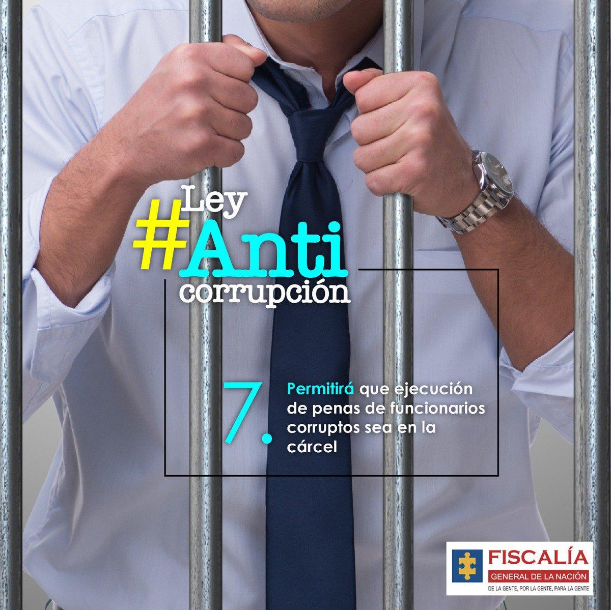 #LeyAnticorrupción presentada por #Fiscalía impide que en casos de corrupción exista algún intento para sustituir la detención preventiva en establecimiento carcelario a casa por cárcel. #LuchaContraLaCorrupción