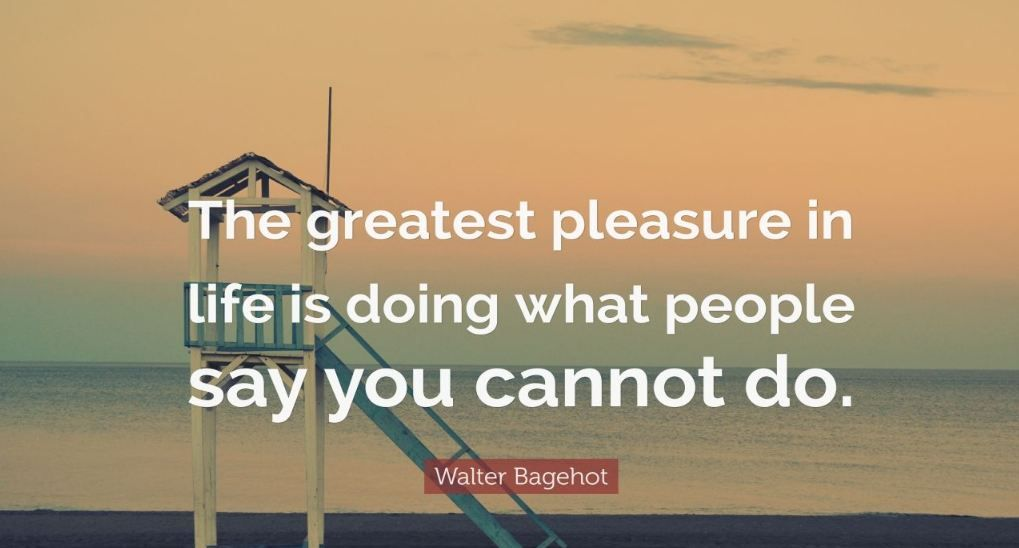 """""""The greatest pleasure in life is doing what people say you cannot do."""" #ChangeTheGame"""