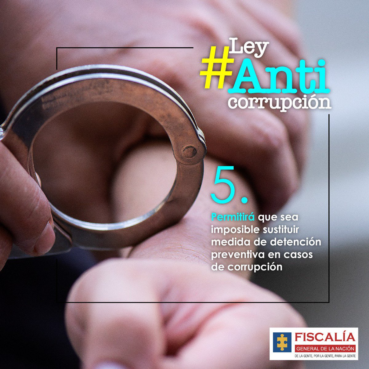 #LeyAnticorrupción que radica la #Fiscalía ante el Congreso impide que en casos de corrupción exista algún intento para sustituir la detención preventiva. Se fortalecerá la #LuchaContraLaCorrupción
