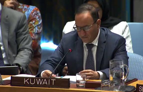 @DominicanRepUN @RussiaUN @MisionONUCol @ONUHumanRights Esperamos que la Ley Estatutaria para la JEP sea el pilar principal por medio del cual se fomente la confianza necesaria para propiciar un entorno político y de seguridad favorable: Mansour Ayyad Al-Otaibi, embajador de Kuwait🇰🇼 ante las Naciones Unidas.