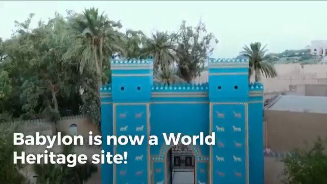 Capital of an empire and home to one of the seven wonders of the ancient world, Babylon has been inscribed on @UNESCO #WorldHeritage List!  Now, it is up to us to preserve & protect this heritage for future generations!  ℹ️ https://on.unesco.org/30IFZBW #ProtectHeritage