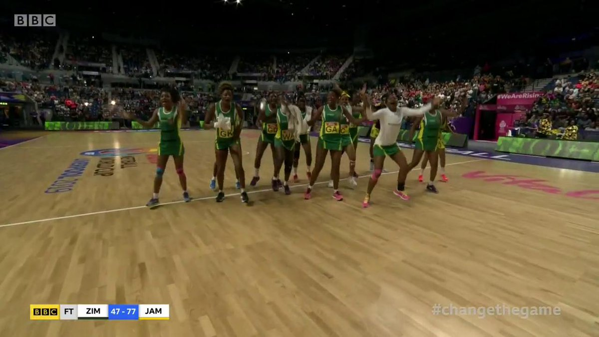 Oh Zimbabwe! ❤️They lost against Jamaica, but they are having SUCH a good World Cup!#ChangetheGame #BBCNetball #NWC2019