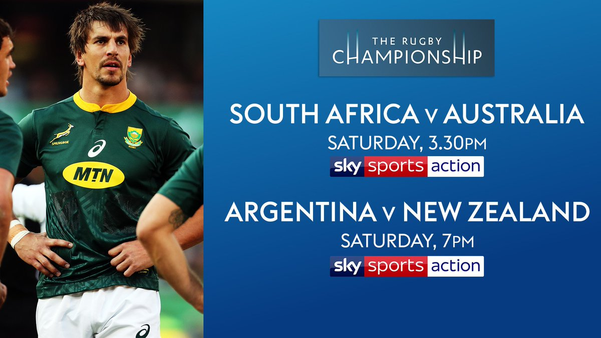 test Twitter Media - 🇿🇦🇦🇺🇦🇷🇳🇿 The #RugbyChampionship gets underway tomorrow afternoon as the road to Japan heats up.  Catch up on all of the latest news from the tournament here 👉 https://t.co/GYBHfdUvHQ   Two live games on @SkySports tomorrow. 👇 Broadcast details 👇 https://t.co/D3ytoeiUW7