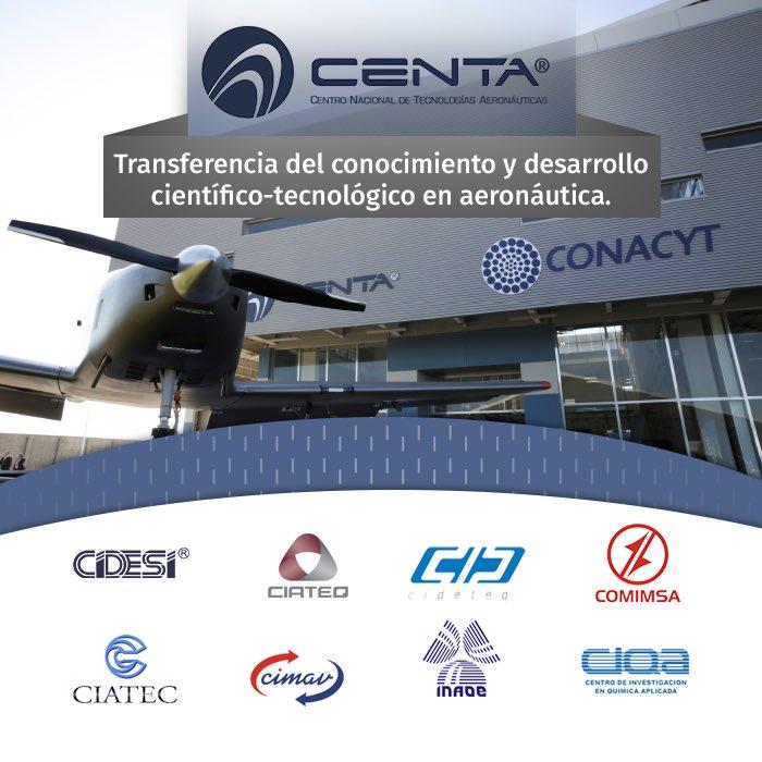 Formamos parte del #CENTA, comprometidos con el #desarrollo y la #innovación de la #aeronáutica en #México.