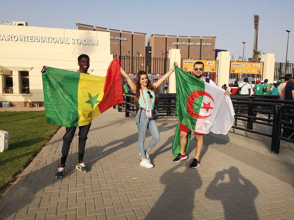 Sénégal x Égypte x Algérie = Africa 🇸🇳 @DuduFdv x 🇪🇬 #ShimaaSaber x 🇩🇿 @DZjokerOfficiel = #FootballTogether #TotalAFCON2019 #SENALG
