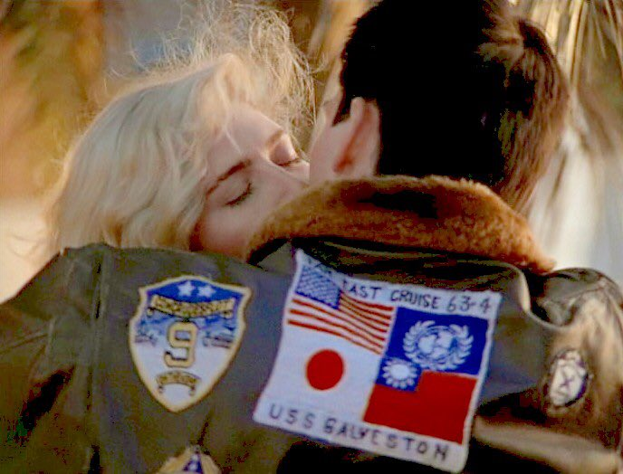 There's a new Top Gun movie coming out. And Maverick is wearing the same leather jacket - only this time it's Communist Party of China-approved, so the Japanese and Taiwanese flag patches are gone (screenshot on right is from the new trailer)...