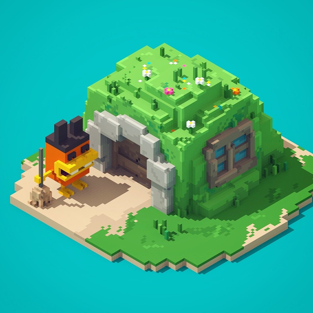 William Santacruz On Twitter Little House Magicavoxel Voxelart 3d Kawaii Minecraft