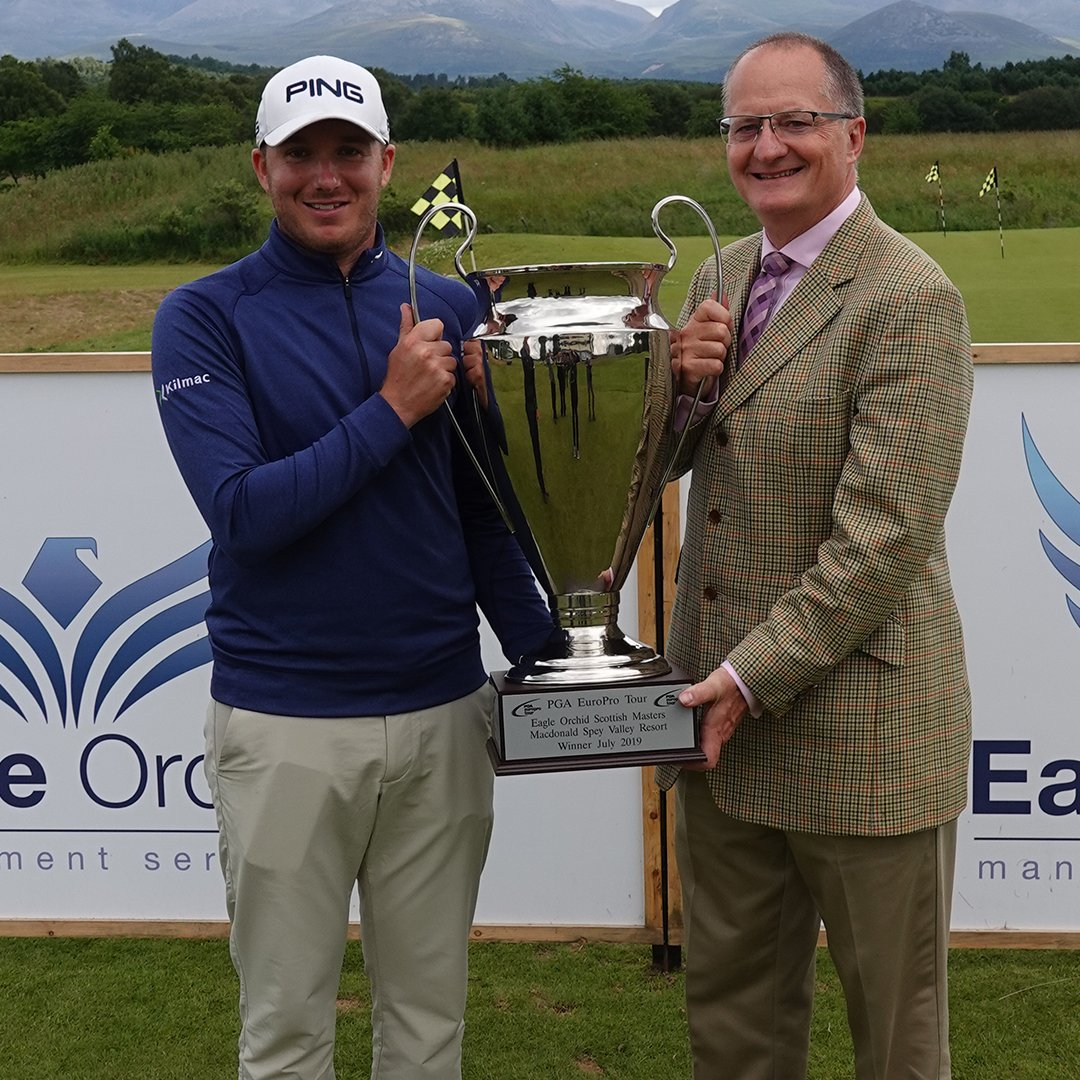 .@Daniel_Young23 wins The @eagleorchid Scottish Masters after leading for 3️⃣ rounds @macdonaldhotels Spey Valley Resort 🏴🏆 Read ⏬ bit.ly/SpeyFinal