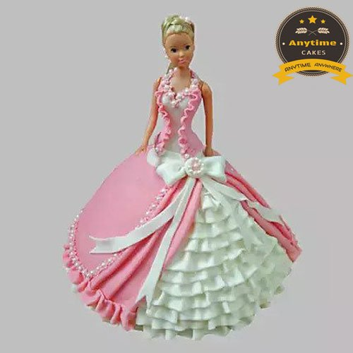 Do u want to celebrate your daughter's birthday in a special way then order Barbie doll cake for your cutest doll from #AnytimeCakes.  #Barbiedollcake #BirthdayCake #CakeLover #Doll #Daughter https://bit.ly/30G3uvl