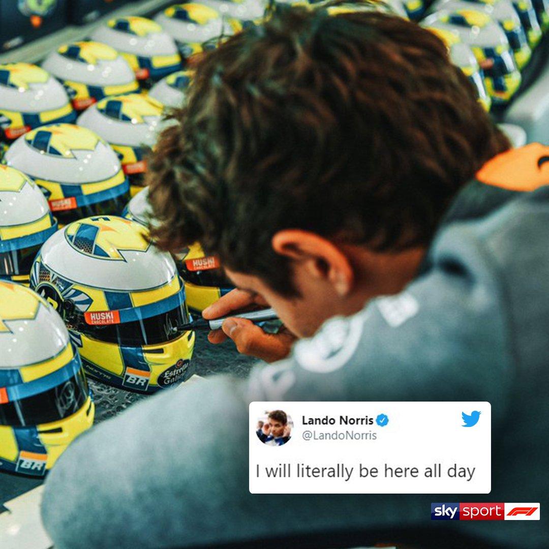 🤣 Il venerdì di @LandoNorris ⌚ quando il tempo sembra non passare mai  #SkyMotori #F1 #Formula1