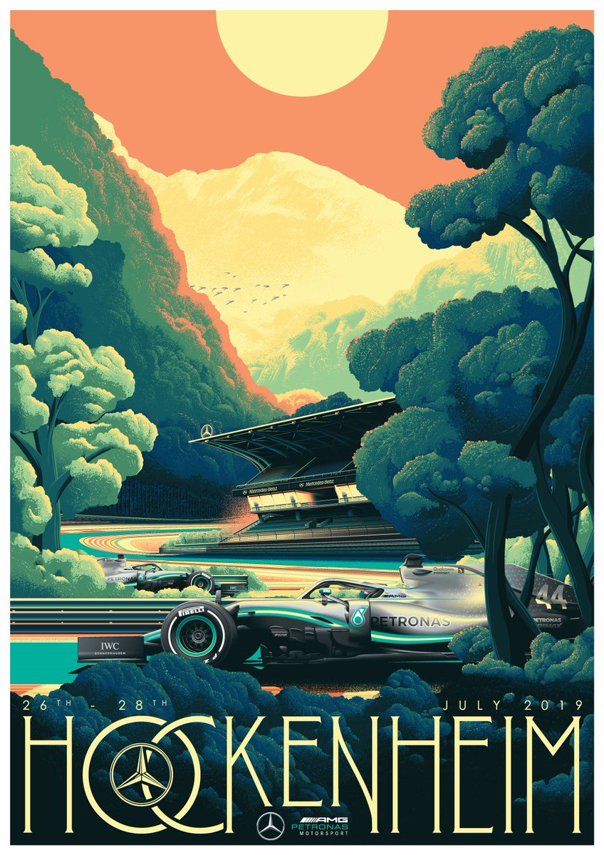 ICYMI: Take a look at @ZoomAuction's poster for the #GermanGP! 👀  All proceeds go to @CR_UK. Grab yours here 👉 https://bit.ly/2LuMLaD