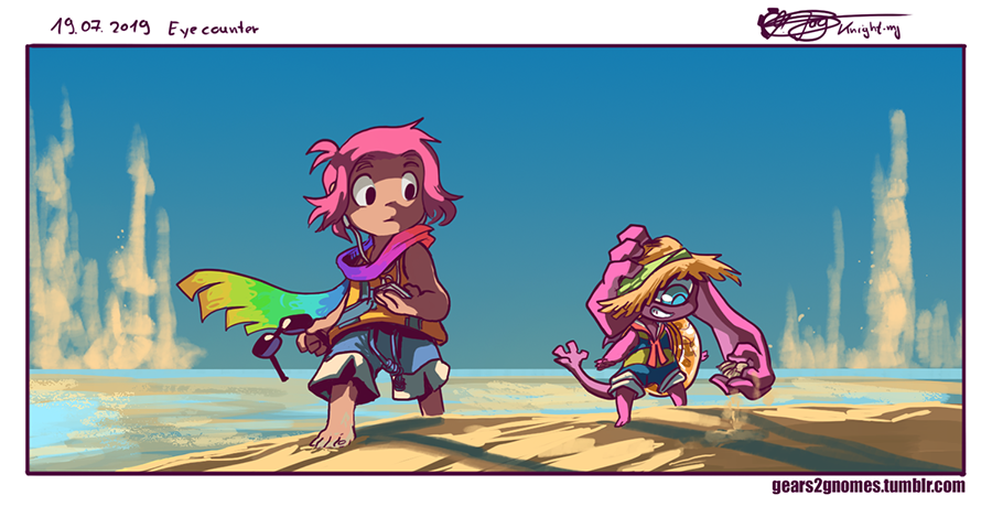 """A surprise encounter with @MerriMonster 's Fairy. """"Eyes"""" seems to be drawn to the summer field resort. --  https:// tmblr.co/Zxlg_u2jcQli7    <br>http://pic.twitter.com/JduWkJgLEl"""
