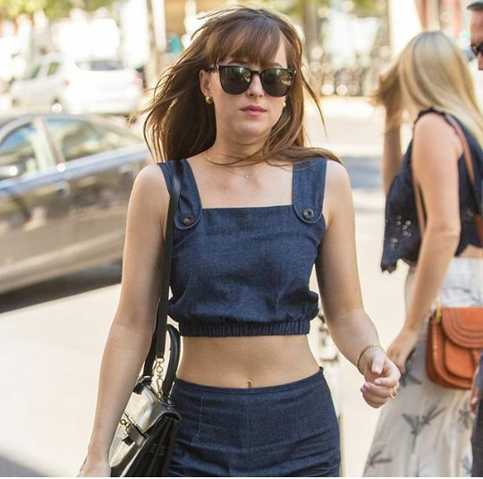 That was one look  Three years ago in Dakota was shoping in France  #DakotaJohnson<br>http://pic.twitter.com/nAhBXAdxGd