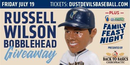 Tri-City Dust Devils giving away Russell Wilson bobblehead