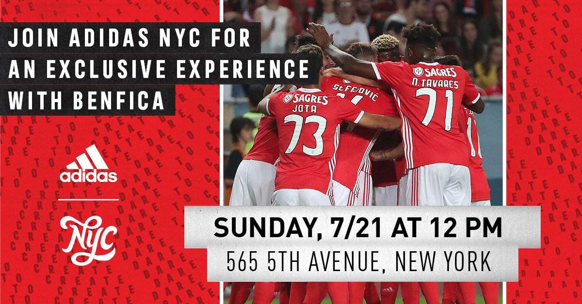 Make a Benfica purchase of $50 or more at @adidasNYC (565 5TH AVE) until 7/21 and gain access* to the event!  *You will receive a ticket to the event with your purchase. Valid while supplies last. First come, first served.