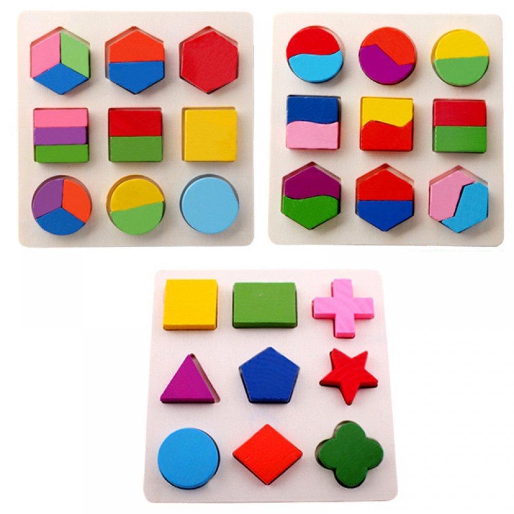 #shopping #tech #fashion Kid's 3D Geometric Wooden Puzzles