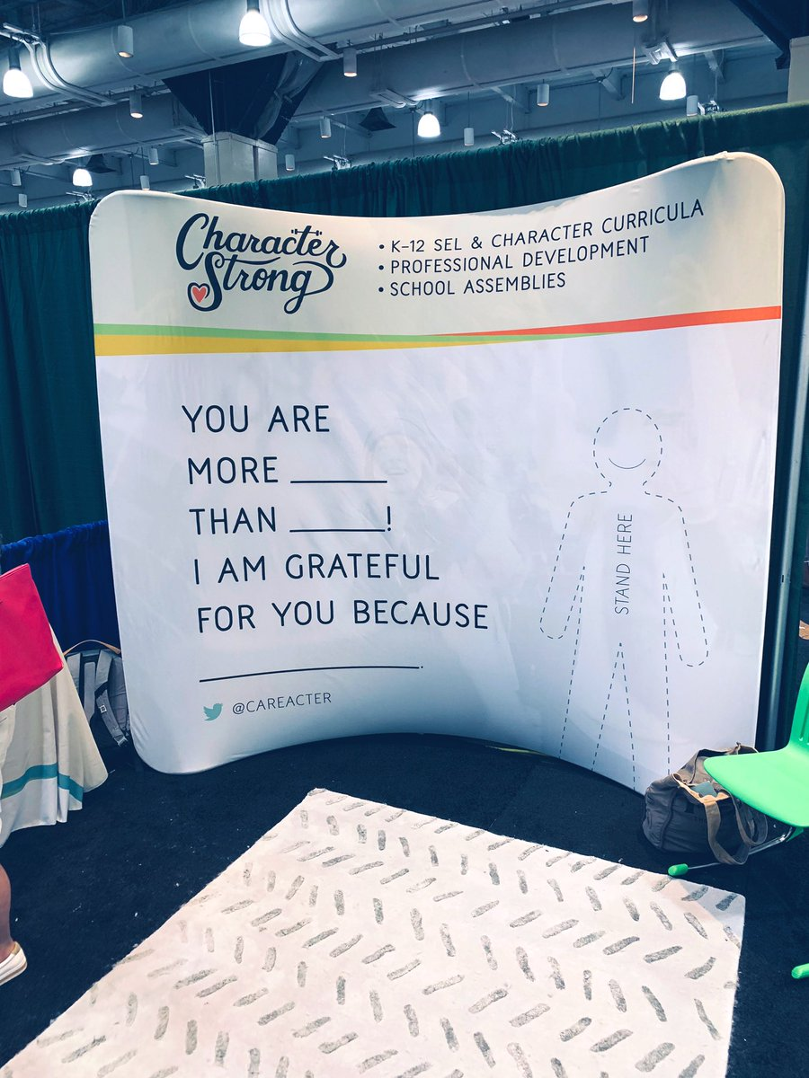 Thought of you @BarbaraGruener as soon as I saw this booth! #celebratEd #celebratekindness #characterstrong #NPC19