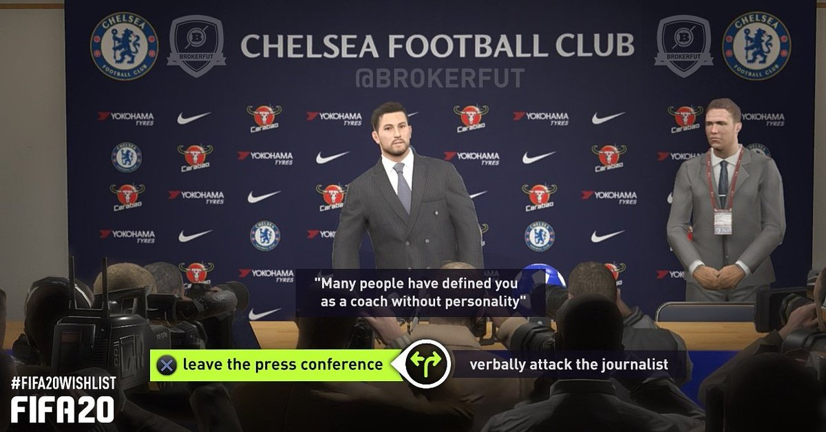 Press Conferences in FIFA 20 Career Mode: Repetitions and Simplicity