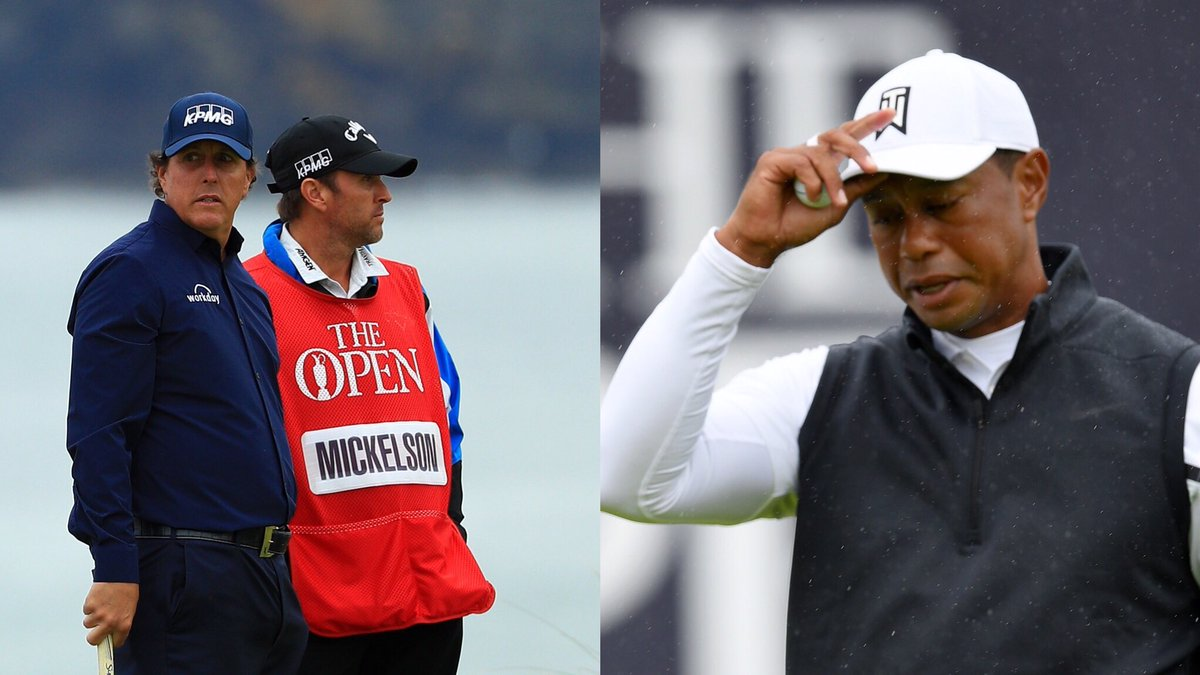 ❌ Tiger Woods ❌ Phil Mickelson It's the first time both have missed the cut in the same Major.#TheOpen