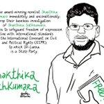 Image for the Tweet beginning: Writer Shakthika Sathkumara has been