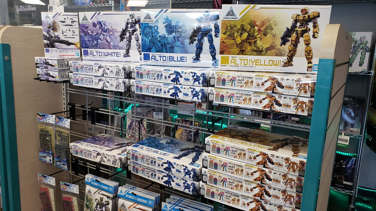 30 Minutes Missions now in stock! Come check out these awesome, customizable kits & all their awesome accessories! #30mm #bandai #30minutesmissions