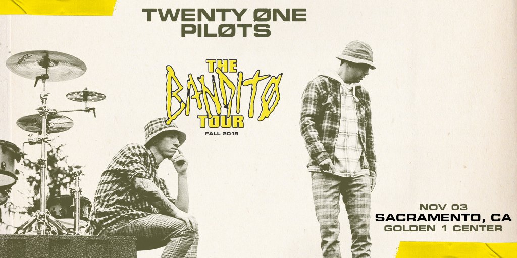 Stop stressin' 🙌 @twentyonepilots returns to the stage for THE BANDITØ TOUR, Nov. 3!   Tickets officially on sale NOW » http://spr.ly/6013Ea0uN