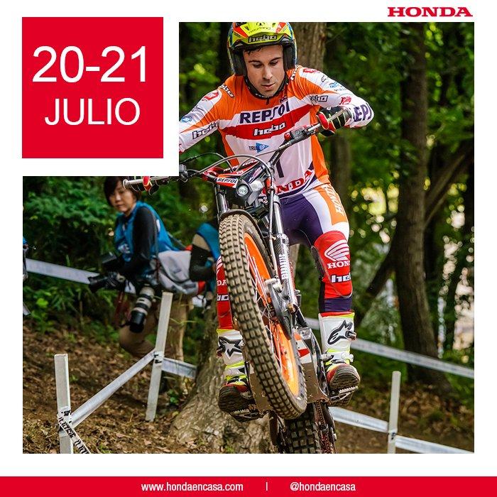 Este fin de semana a disfrutar del equipo trial de Honda en Francia. ¡Ánimo! #Honda #ThePowerOfDreams #Trial #TrialGP @trialteamhrc @tonibou_oficial @tonibou @FUJIGAS