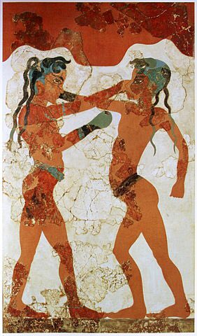 Happy @roughnrowdy Day.   The earliest evidence of boxing dates back to Egypt around 3000 BC. The sport was introduced to the ancient Olympic Games by the Greeks in the late 7th century BC, when soft leather thongs were used to bind boxers' hands and forearms for protection.