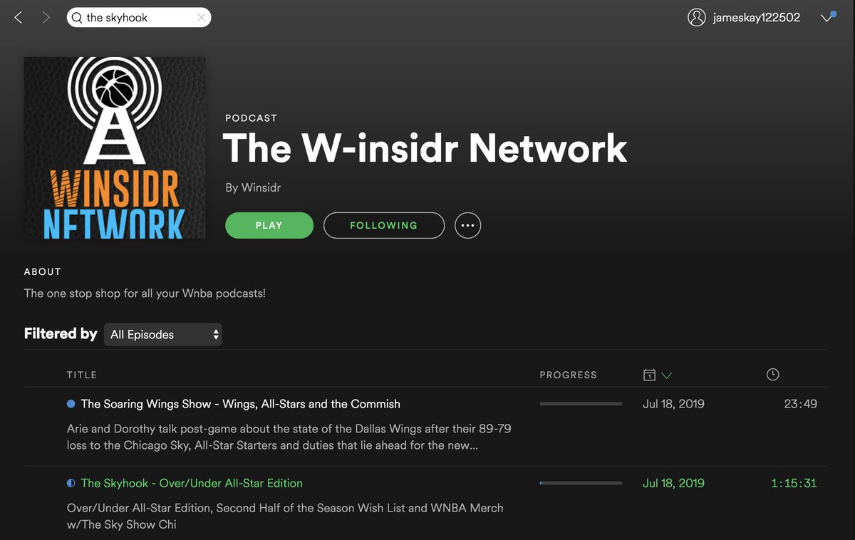 I am so excited to announce that @skyhookin is now apart of @TheWinsidr Network! I've been listening to them for over a year now so I am kind of geeking out right now!!!   Here is the Spotify link to my most recent episode with @TheSkyShowCHI:  https://open.spotify.com/episode/46xouFrQig73LAPkFfVDsS?si=xEGer6iBQZebJTgWscwlmA …