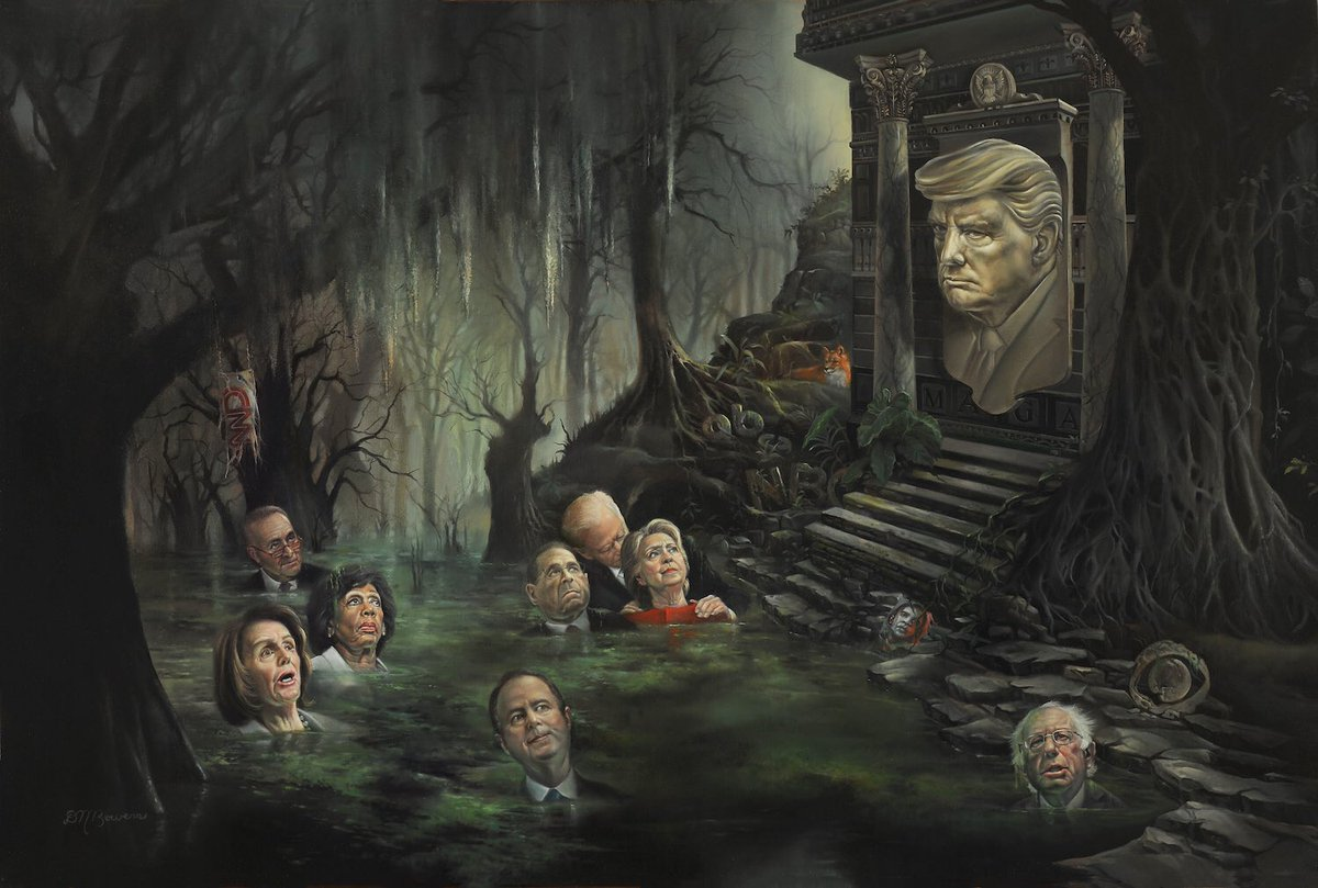 The Swamp.  #DavidBowers #Art #Artist #OilPaintings #Linen #ArtOfTheDay #Instagram #Twitter #Political  📩DM or contact bowersartist@gmail.com for inquiries.  https://www.instagram.com/p/B0Gxx4nHyOp/?igshid=1d5ezuo7wydpk…