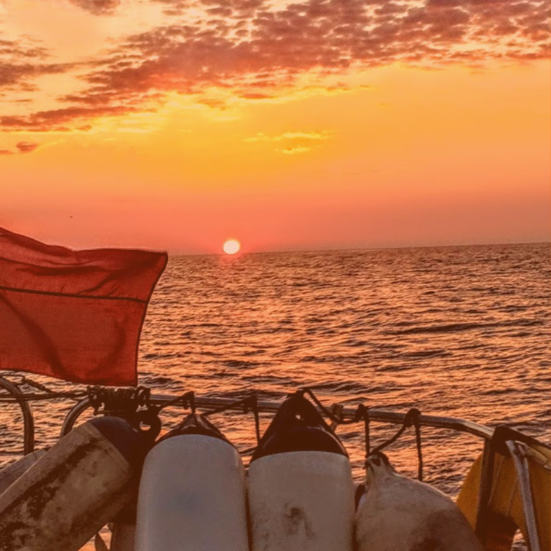 that view.  grab your own sunset this summer !  #fenderfriday  #fridayfeeling #lovesailing #sunset  #sailwithus #instasail