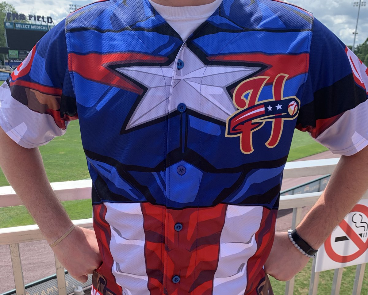 The Captain America jerseys are HERE!! Check out these bad boys and let us know what you think! Be sure to come out tonight and bid on these sweet jerseys during the game! 🎟️ milb.com/harrisburg/tic…