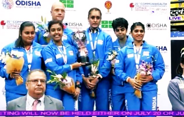 🇮🇳🥇 GOLDEN GIRLS!! #India's Women's team shine at Commonwealth Table Tennis  Championships with a #GOLD🥇#CTTC2019 🏓
