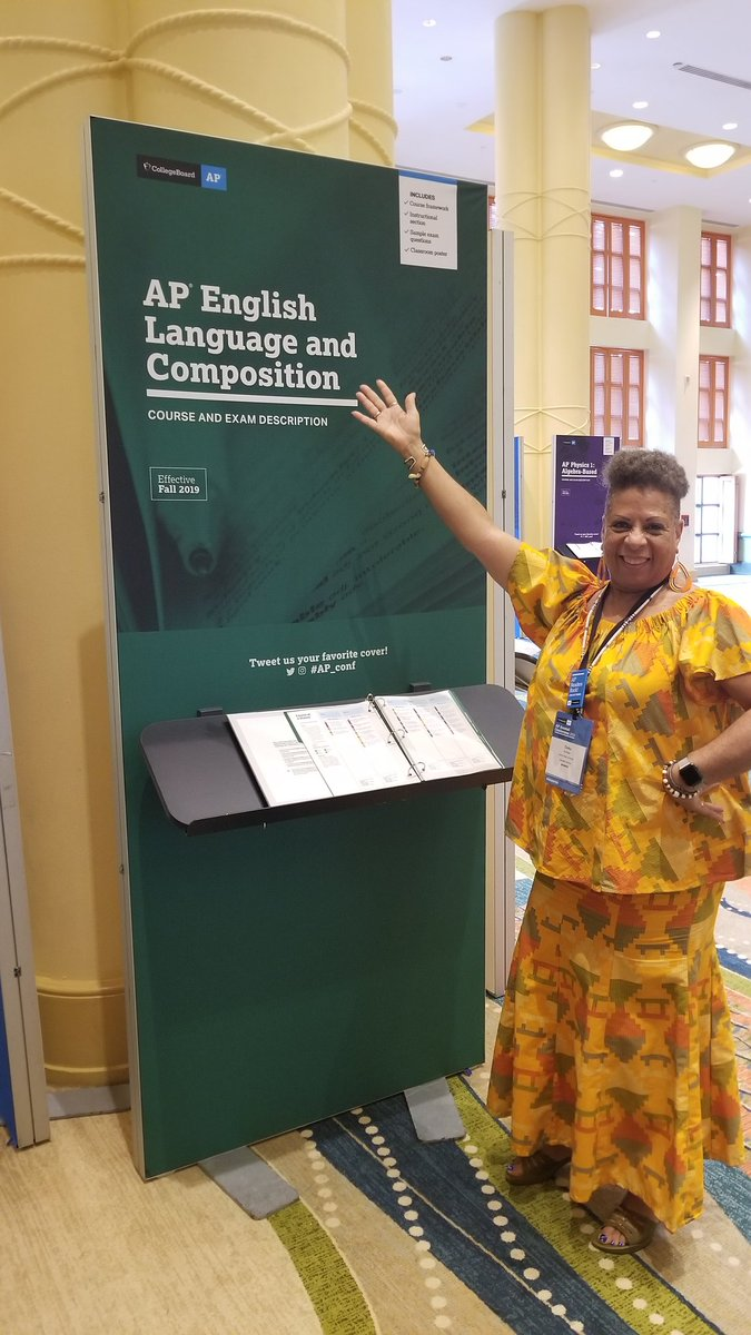 New Chief Reader @dukuuck  presenting the AP English Language and Composition Course and Exam Description. #AP_Conf #APLang #APLangChat<br>http://pic.twitter.com/Q6sLLrTo1U