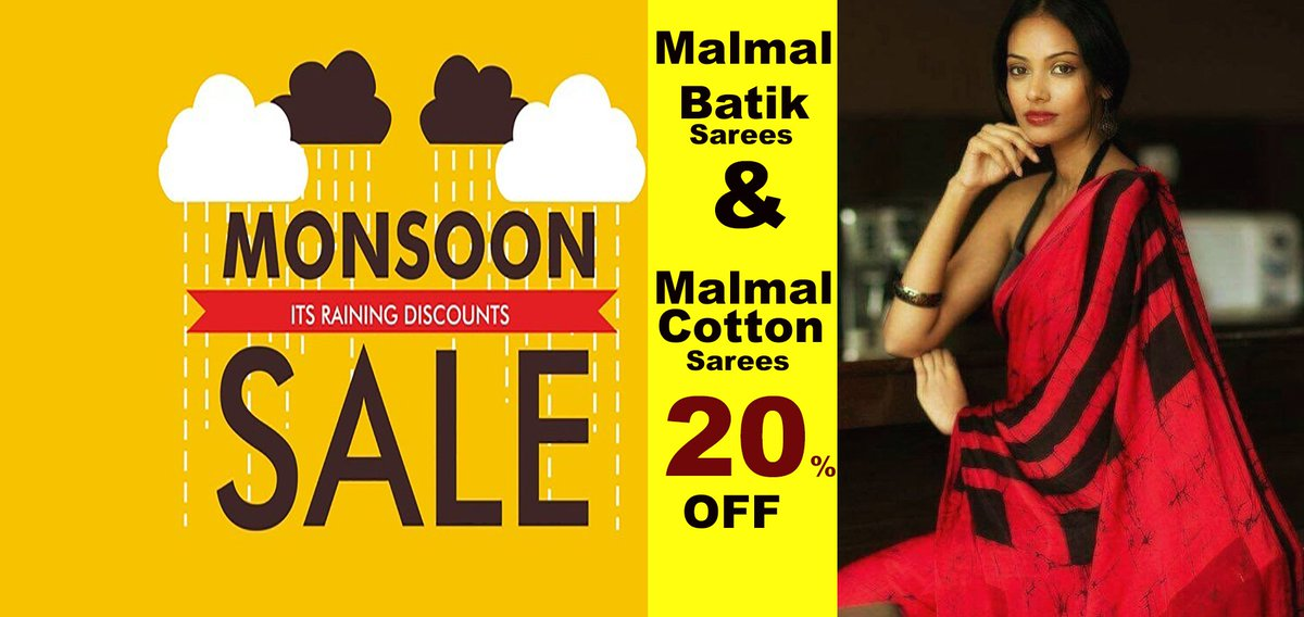 DailyBuyys Monsoon Special ☔ +: Flat 20% off on Malmal Batik Sarees & Malmal Cotton Sarees Collections! - https://mailchi.mp/8cea9f0cb1aa/dailybuyys-monsoon-special-flat-20-off-on-malmal-batik-sarees-malmal-cotton-sarees-collections …