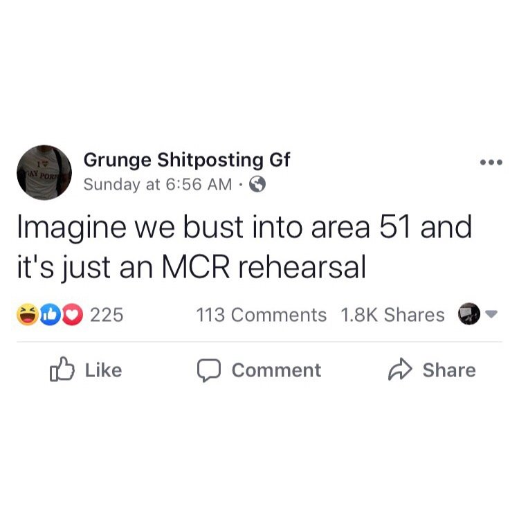 But what if Area 51 is really hiding blink-182 circa 1999?