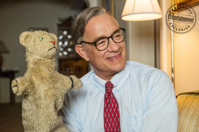 ‼️ Tom Hanks as Mr. Fred Rogers in the upcoming biopic, A BEAUTIFUL DAY IN THE NEIGHBOURHOOD: