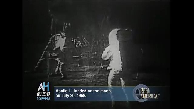 #OnThisDay in 1969, #Apollo11 landed on the moon. Saturday, starting at 7am ET, we're marking #Apollo50 will a live three-hour @cspanwj program with @airandspace. Look for more Apollo & space #history programing the rest of the weekend on @cspan 3.