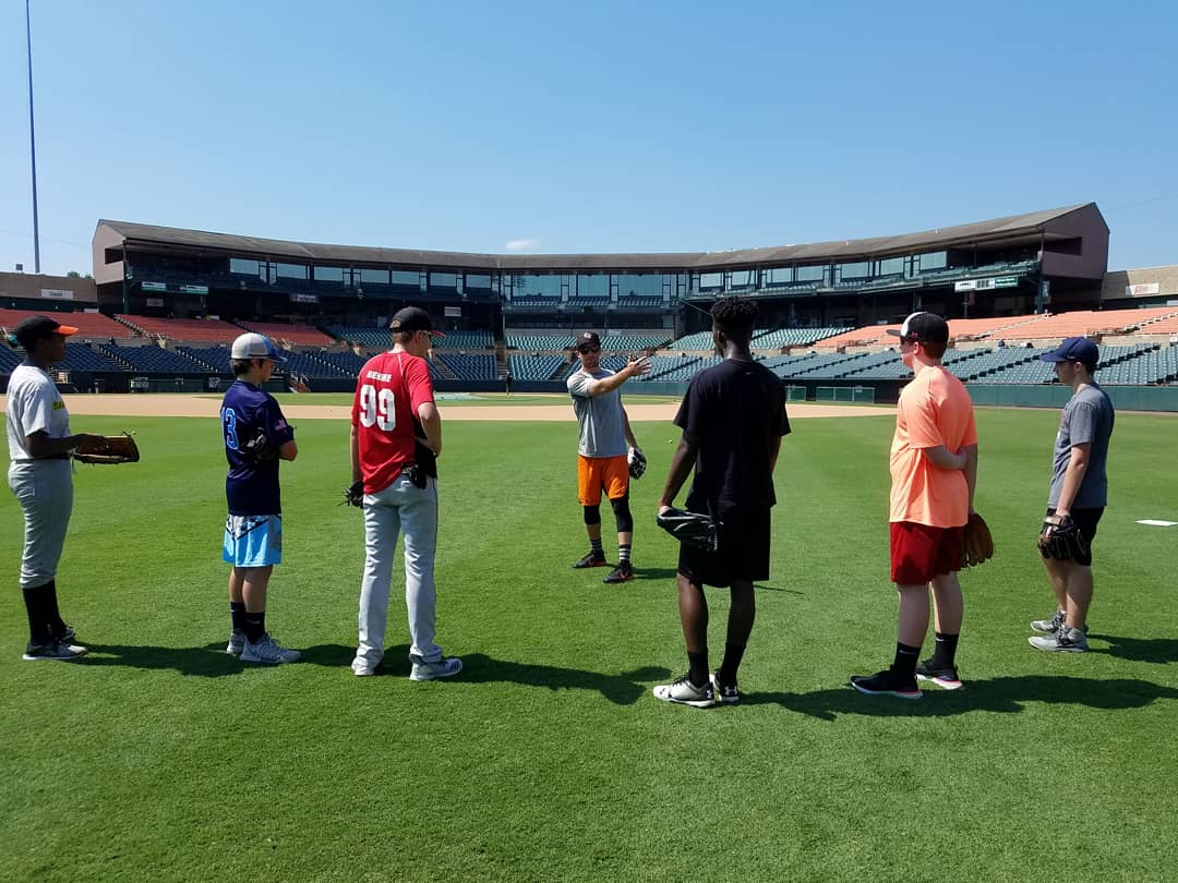 Baseball camp #✌: ✔  Our final camp of the year: 8/13-15 --> http://baysox.com  #PlayAtTheBay | #DiveIn