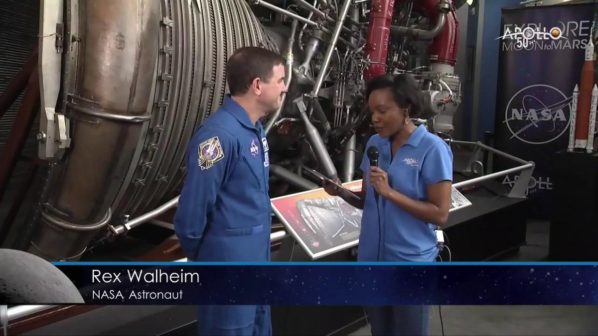 LIVE NOW: One of our @NASA_Astronauts Rex Walheim reflects on the #Apollo50th anniversary and what its like to launch into space. Join us now and ask questions using the hashtag #Apollo50th: twitter.com/i/broadcasts/1…
