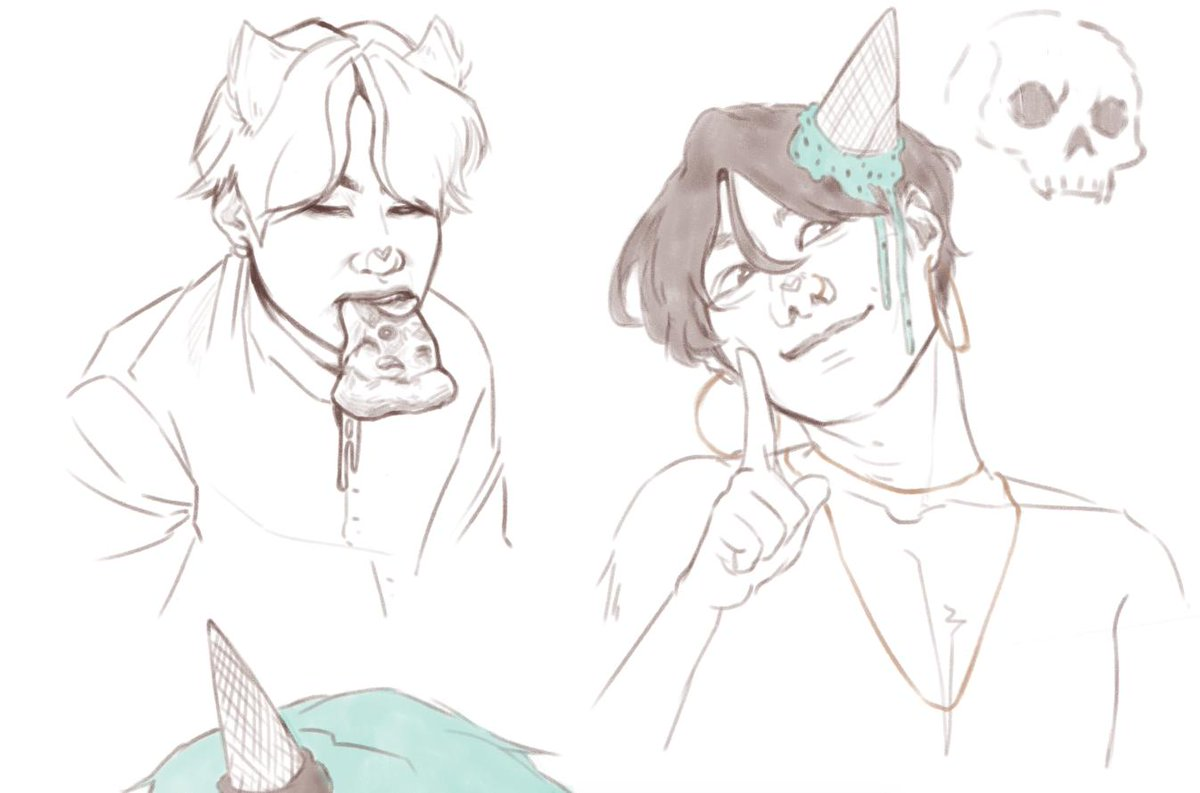 i think i realised too late into this sketch dump that it looks like namjoon is heavily judging yoongi <br>http://pic.twitter.com/paEOeYk03C