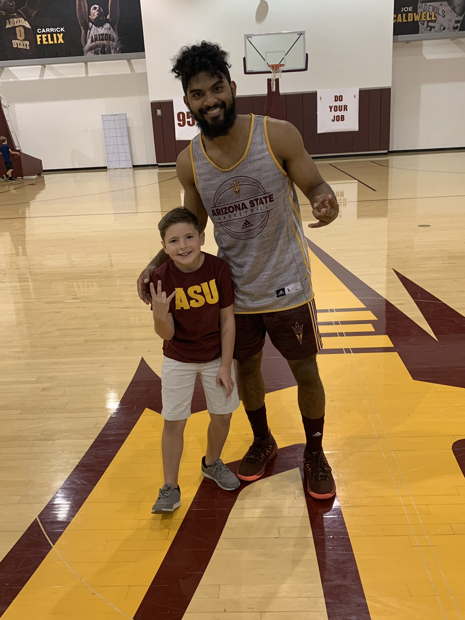 Arizona State Sun Devils NCAA Basketball: Happy birthday to Eben who wanted to meet his favorite player in basketball history. Re...